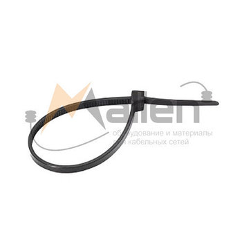 Стяжки кабельные СТН-Ч 4x300 мм (черные), 100 шт. МАЛИЕН арт. 870214