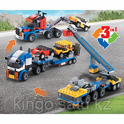 Конструктор 3 в 1 Jisi Bricks Architect - Транспортировщик автомобилей (аналог LEGO)