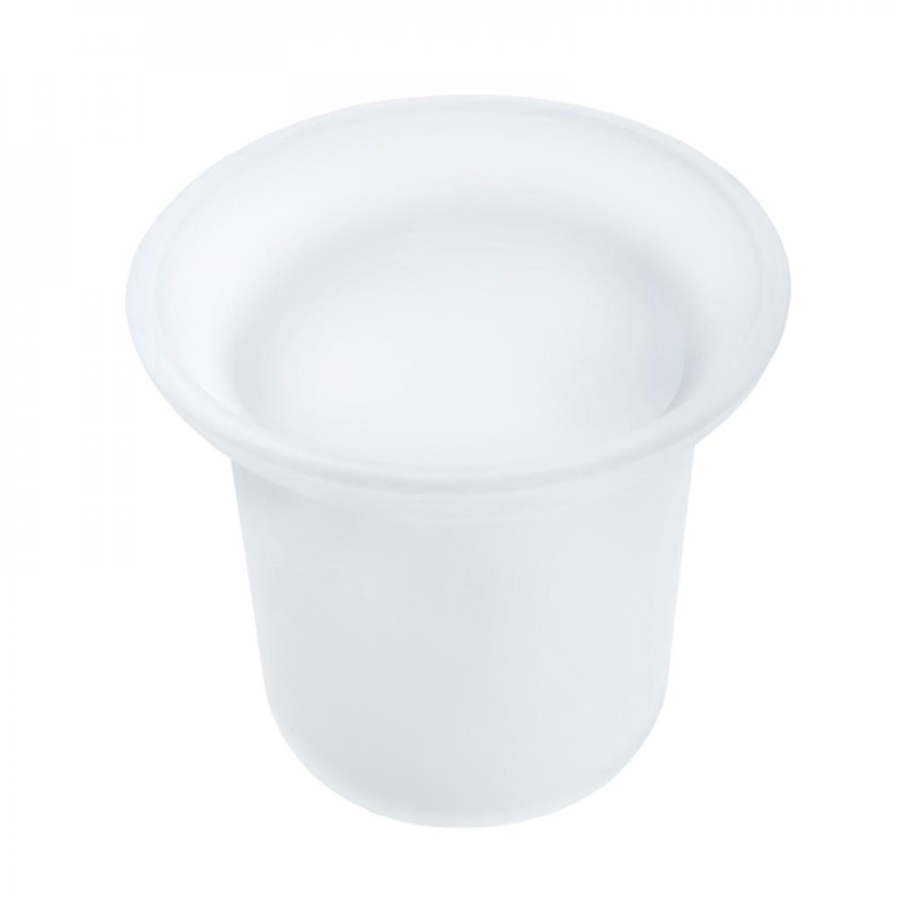Аквалиния стакан белый матовый для сантехнического ерша