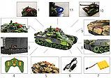 Большой радиоуправляемый боевой танк war tank, фото 5