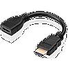 """Удлинитель """"LAN""""  HDMI (M) – HDMI (F) , L=0.25m"""