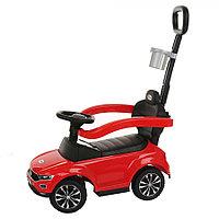 Толокар Pituso Volkswagen с родительской ручкой Красный
