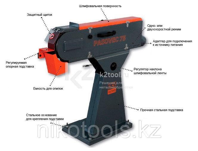 Односкоростной ленточный шлифовальный станок нового поколения N.KO Machines PASOVEC 75