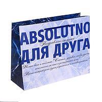 Пакет ламинированный горизонтальный «Absolutno для друга», MS 18 × 23 × 10 см
