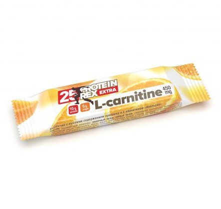 """Батончик ТМ """"ProteinRex"""" """"АПЕЛЬСИН"""" 25% протеина + L-карнитин * 40 гр"""