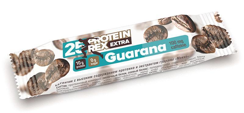 """Батончик ТМ """"ProteinRex"""" """"МОККО"""" 25% протеина + экстракт гуараны * 40 гр"""