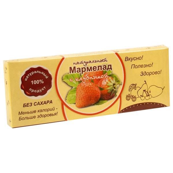 Мармелад НАТУРАЛЬНЫЙ с КЛУБНИКОЙ на фруктозе  * 140 гр