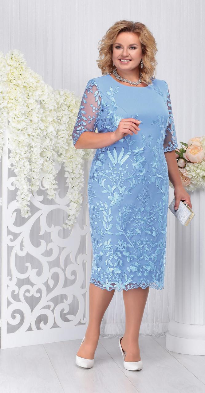 Платье Ninele-5734/3, голубой, 52