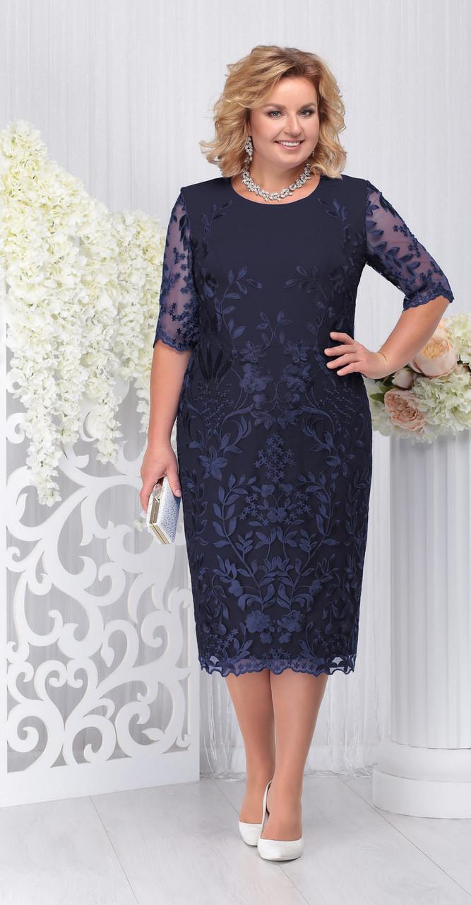 Платье Ninele-5734/4, темно-синий, 52