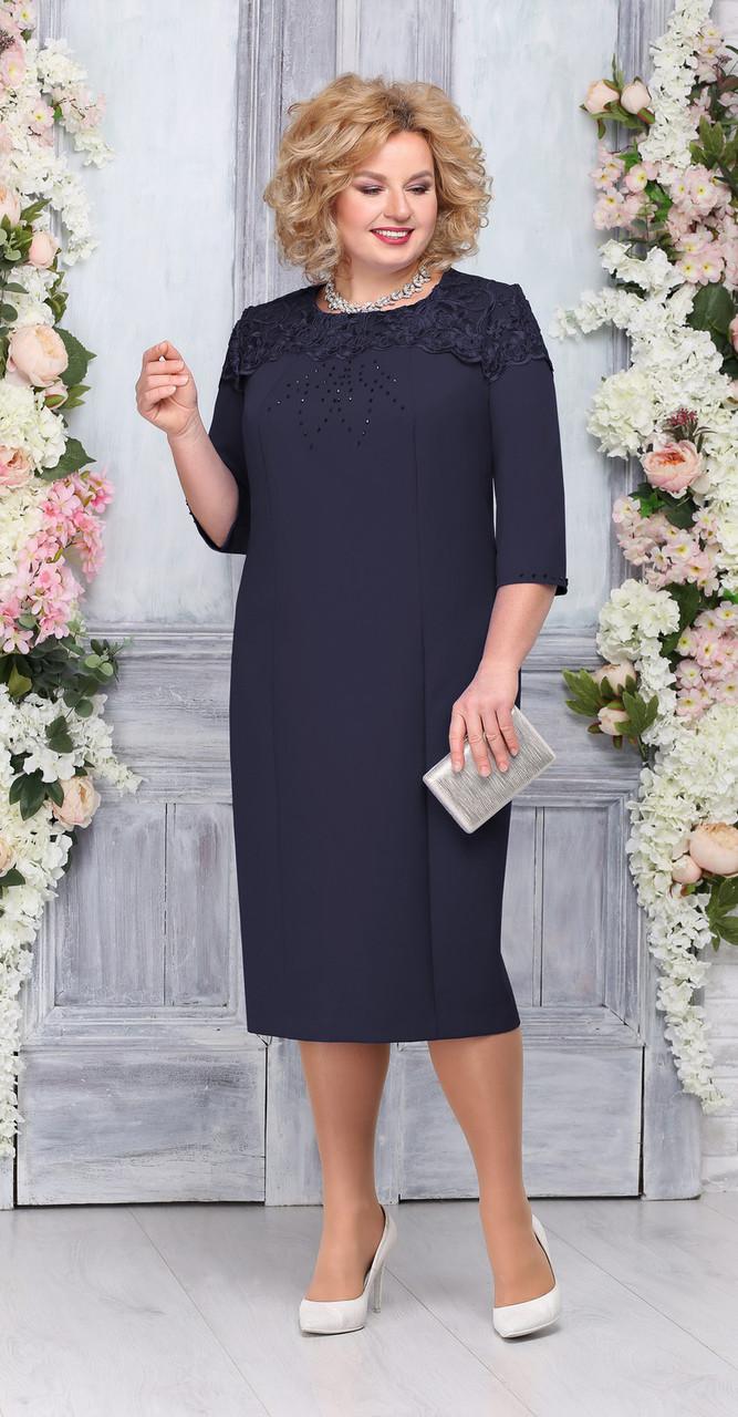 Платье Ninele-5751/2, темно-синий, 58