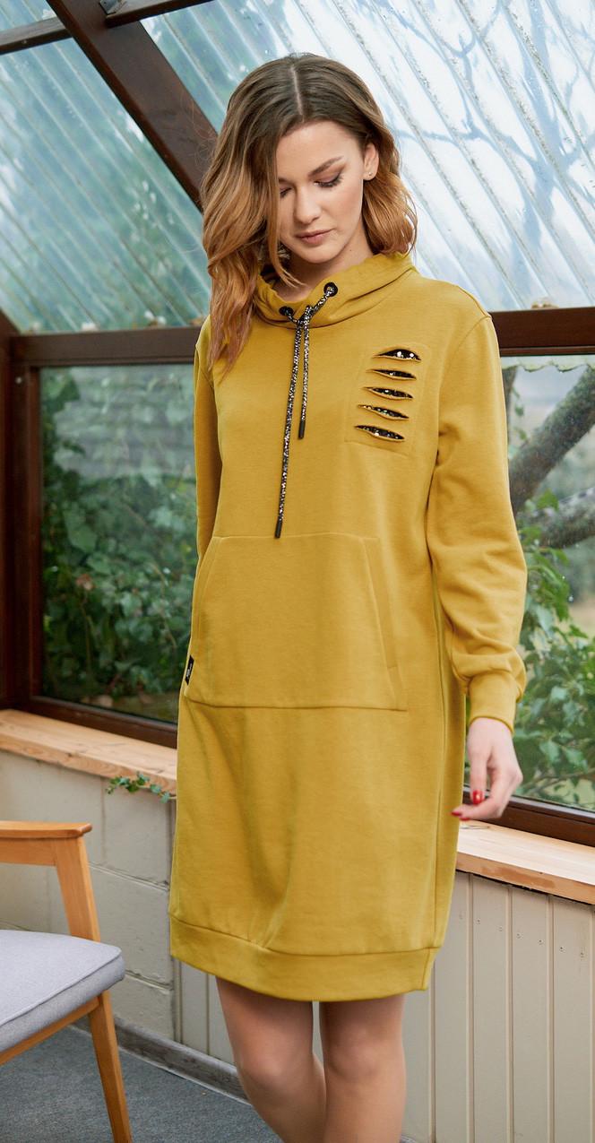 Платье Fantazia Mod-3602/2, горчица, 54