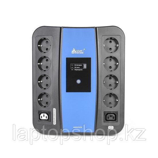 Источник бесперебойного питания SVC U-1000, Smart, USB, Мощность 1000ВА/600Вт