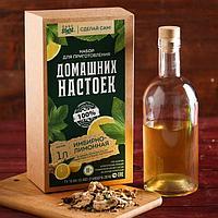 """Набор для приготовления настойки """"Имбирно-лимонная"""": набор трав и специй и бутылка"""