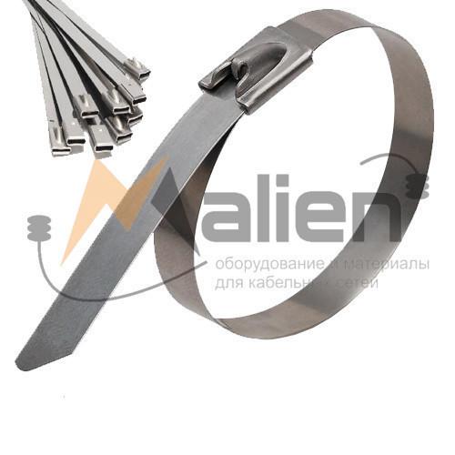 Стяжка стальная СТС 4.6x350 мм (AISI 304) МАЛИЕН арт. 870238