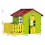 Детский игровой Домик садовый MOСHTOYS с забором, фото 2