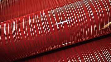 Пленка глянцевая ПВХ Страйп красный DL0905-6T