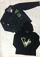 Двойка- джинсовая куртка с худи подростки