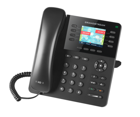 Grandstream GXP2135 IP телефон 4 SIP аккаунта, 8 линии, цветной LCD, PoE, (1GbE)Gigabit Ethernet