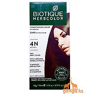 Коричневая Краска для волос Биотик с 9 травами (BIOTIQUE HERBCOLOR) 50 г + 110 мл