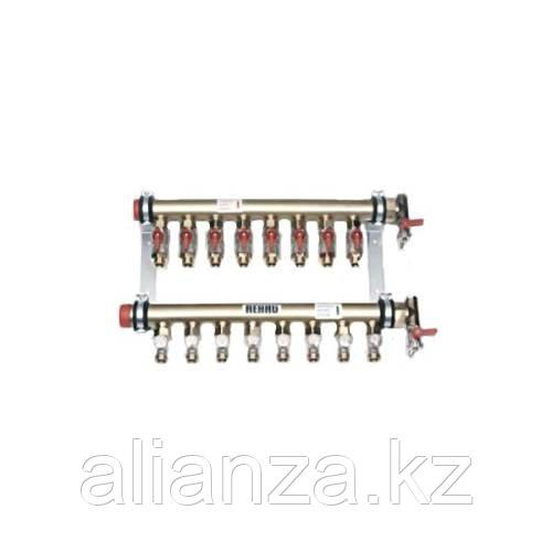 """Коллекторная группа REHAU IVK - 1""""1/4 на 2 контура 1/2""""EK (для труб 17x2.0 мм, 20x2.0 мм)"""