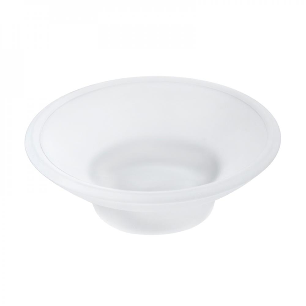Аквалиния мыльница стеклянная белая матовая MC-002