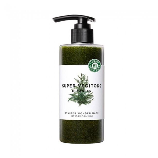 Пенка для умывания Wonder Bath Super Vegitoks Cleanser Green (300мл)