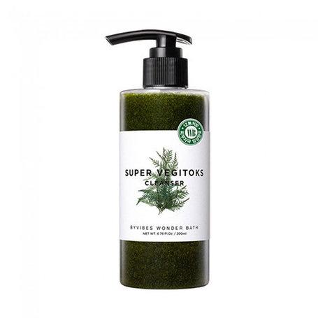 Пенка для умывания Wonder Bath Super Vegitoks Cleanser Green (300мл), фото 2