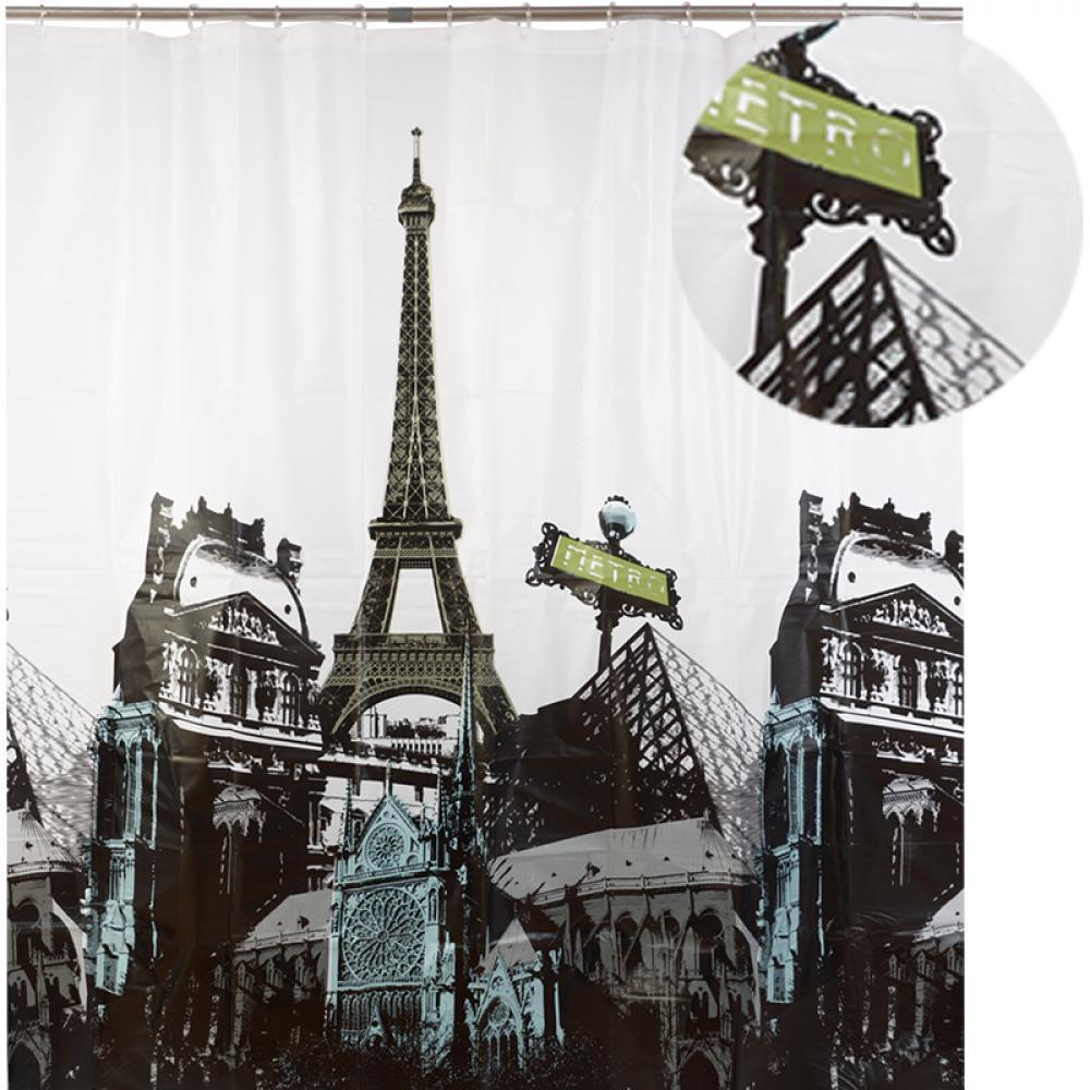 Аквалиния штора для ванной 007E-15 (башня) 1,8*1,8