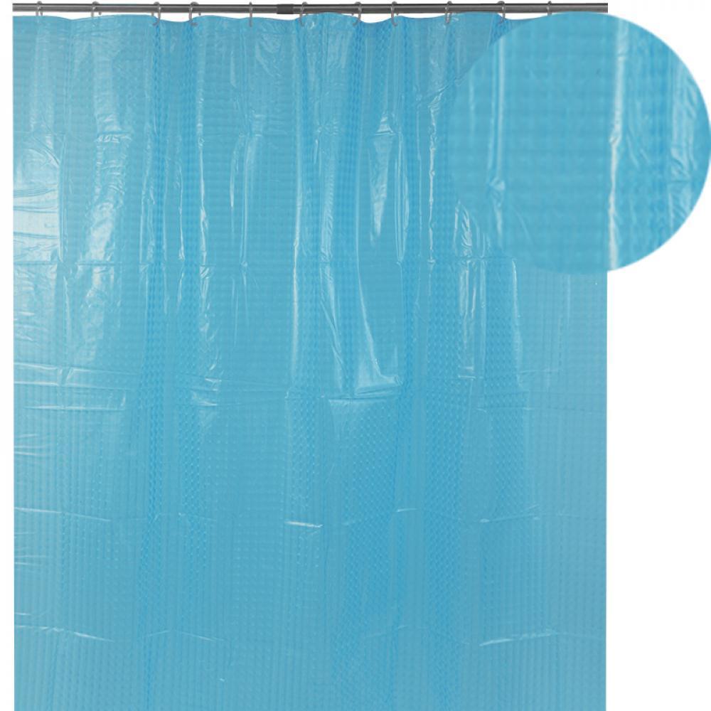 Аквалиния штора для ванной 3D-135 (мел.кв.голубая) 1,8*1,8