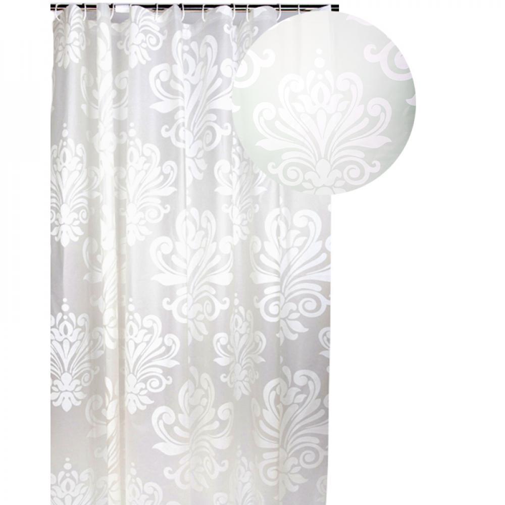Аквалиния штора для ванной HMA-0009 (завитки)