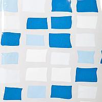 Аквалиния штора для ванной S-C014-1(син.мозаика)