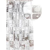 Аквалиния штора для ванной S-C014-3 (серая мозаика)