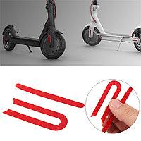 Красные наклейки боковые на самокат xiaomi m365/Pro mijia electric scooter