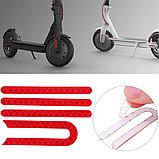 Красные наклейки боковые на самокат xiaomi m365/Pro mijia electric scooter, фото 2