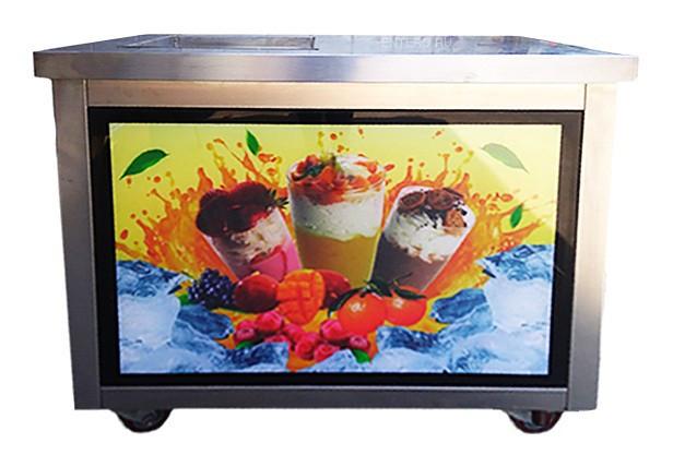 Фризер для жареного мороженого Foodatlas KCB-1F (световой короб, стол для топпингов)
