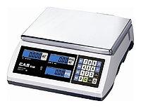 Торговые весы CAS ER JR-6CB белые