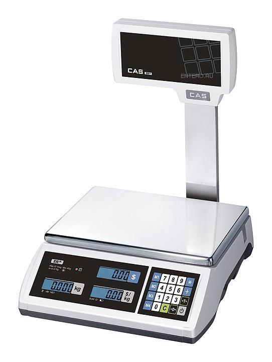 Торговые весы CAS ER JR-6CBU белые