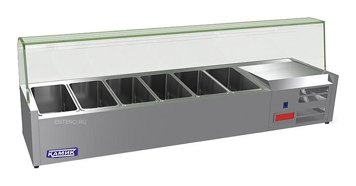Витрина холодильная для топпингов КАМИК ВХ-15040