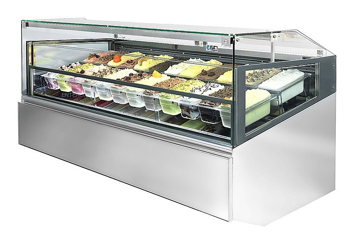 Витрина для мороженого ISA Gelato Supershow 190 RV H135