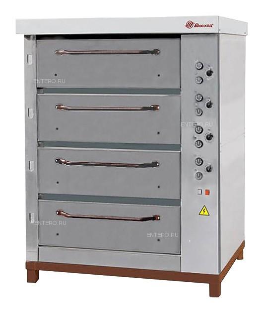 Печь хлебопекарная Восход ХПЭ-750/4 нерж. сталь, в обрешетке