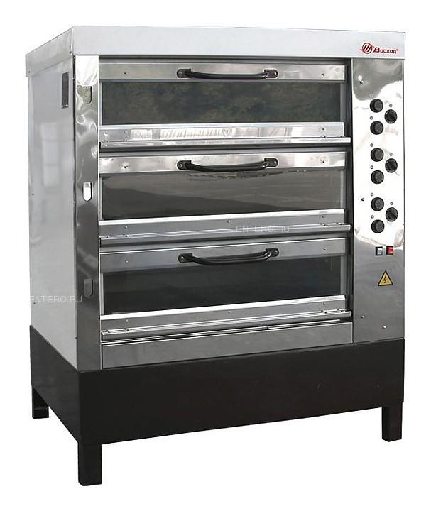 Печь хлебопекарная Восход ХПЭ-750/3 С в обрешетке