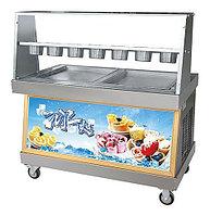 Фризер для жареного мороженого Foodatlas KCB-2F (контейнеры, световой короб, стол для топпингов, 2 компрессора)