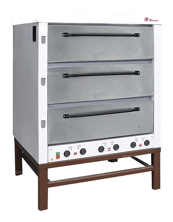 Печь хлебопекарная Восход ХПЭ-500 нерж. сталь, в обрешетке