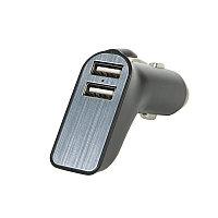 Адаптер автомобильный CARMATE с выходом USB иType C, черный, , 30101