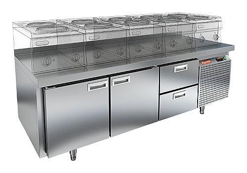 Стол холодильный HICOLD GN 112/TN LT (внутренний агрегат)