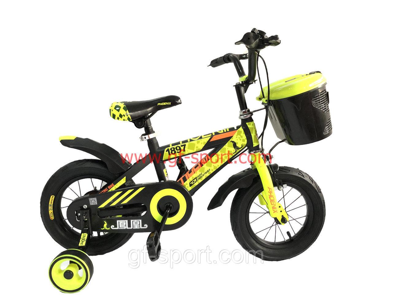 Велосипед Phoenix алюминиевый сплав оригинал детский с холостым ходом 12 размер