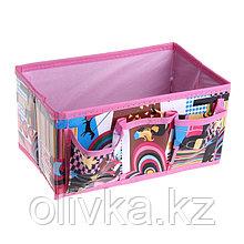 Бокс для мелочей «Модница», 3 кармана, 25×15×12 см, цвет розовый