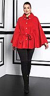 Пальто Lissana-3921/1, алый, 50