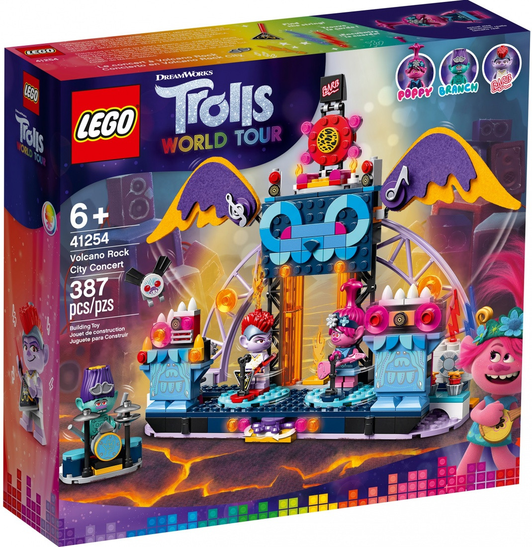 41254 Lego Trolls Концерт в городе Рок-на-Вулкане, Лего Тролли
