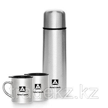 Набор АRСTIСA термос вакуумный + две кружки, цвет металлик